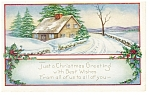 Just A Christmas Greeting  Postcard 1923