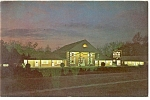 Williamsburg, VA, Lord Paget Motor Inn, Night Postcard