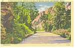 Click here to enlarge image and see more about item p7236: Oak Creek Canyon, Arizona Linen Postcard