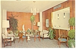 Richmond VA Quality Motel Intown Lobby Postcard p7282