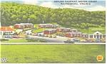 Waynesboro, VA, Skyline Parkway Motor Court Postcard