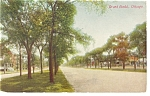 Click here to enlarge image and see more about item p7330: Chicago, IL, Grand Boulevard Postcard 1913