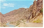 Wind River Canyon Wyoming Postcard p7332