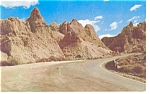 Big Foot Pass Bad Lands South Dakota Postcard p7333