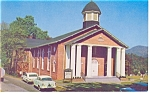 Cullowhee, NC Baptist Church Postcard Vintage Cars