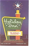 Charlotte NC The Holiday Inn No 5 Sign Postcard p7373