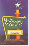 Salisbury NC The Holiday Inn Sign Postcard p7375