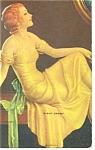 Click here to enlarge image and see more about item p7377: Art Deco Girl in Gold Gown Image