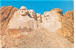 Mt Rushmore Black Hills South Dakota Postcard p7380