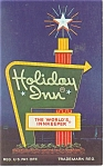 South Hill VA  Holiday Inn Sign  Postcard p7397