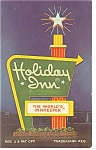 Roanoke VA, Holiday Inn Downtown Sign  Postcard
