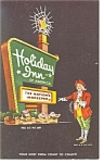 Chapel Hill, NC, Holiday Inn  Sign  Postcard