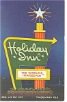 Syracuse NY Holiday Inn  Sign  Postcard p7401