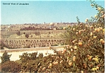 Click here to enlarge image and see more about item p7410: General View of Jerusalem Israel Postcard p7410