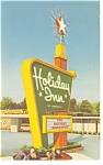 Troy, NY, Holiday Inn Sign Postcard