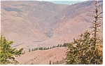 Click here to enlarge image and see more about item p7416: Hells Canyon, ID From The Devil's Throne Postcard