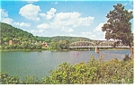 Tidioute, PA, Allegheny River Bridge Postcard