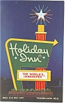 Toledo OH Holiday Inn Sign Postcard p7422