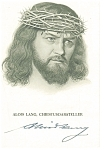 Click here to enlarge image and see more about item p7429: Christ with a Crown of Thorns Postcard