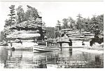 Rocky Island Lower Dells WI Real Photo Postcard p7450