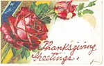 Click here to enlarge image and see more about item p7470: Thanksgiving Greetings Postcard 1909