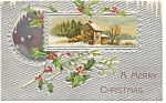 A Merry Christmas Postcard Divided Back