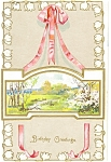 Antique Birthday Greetings Postcard p7487 1906