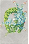 Click here to enlarge image and see more about item p7488: Antique  Postcard Horseshoe and Four Leaf Clovers p7488