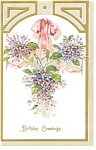 Click here to enlarge image and see more about item p7489: Antique  Birthday Greetings Postcard Undivided Back