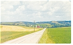 Country Farm Road Scene Postcard