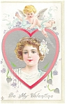 Click here to enlarge image and see more about item p7538: Be My Valentine Postcard p7538