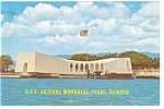 Click here to enlarge image and see more about item p7564: USS Arizona Memorial Pearl Harbor HI Postcard p7564