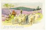 Click here to enlarge image and see more about item p7568: Loving Easter Greetings Postcard p7568 Rapheal Tuck