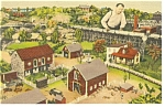 Click here to enlarge image and see more about item p7584: Hamburg,PA, Roadside America, Farm House Postcard