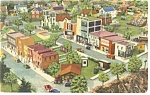 Hamburg  PA  Roadside America School House Postcard p7585