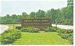 US Army Fort Eustis Entrance Postcard