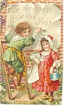 Victorian Children Divided Back Postcard p7623