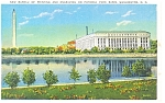 Click here to enlarge image and see more about item p7643: Washington DC Bureau of Printing and Engraving Postcard p7643