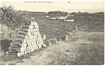 Click here to enlarge image and see more about item p7666: Clam Baskets, Coast of Maine Postcard