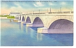 Click here to enlarge image and see more about item p7672: Arlington Memorial Bridge,Washington DC Postcard