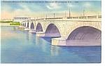 Click here to enlarge image and see more about item p7672: Arlington Memorial Bridge Washington DC Postcard p7672