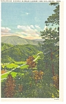 Click here to enlarge image and see more about item p7674: Gatlinburg, TN, Highway Scene Postcard