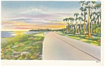 Sunrise Over a Florida Highway Postcard p7675