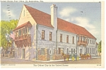 Click here to enlarge image and see more about item p7707: St. Augustine FL Post Office Postcard p7707 1958