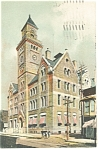 Troy, NY , Post Office Postcard 1910