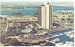 Click here to enlarge image and see more about item p7732: San Diego, CA, Islandia Hyatt House Postcard