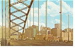 Click here to enlarge image and see more about item p7750: Pittsburgh PA Downtown View Postcard p7750