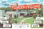 Click here to enlarge image and see more about item p7751: Minden NE Pioneer Village Postcard p7751