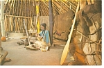 Click here to enlarge image and see more about item p7783: Lincoln NE Pawnee Earthlodge Diorama Postcard p7783