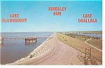Click here to enlarge image and see more about item p7812: Kingsley Dam,Lakes Ogallala & McConaught, NE Postcard